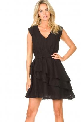 Freebird |  Cotton dress with Kyona | black
