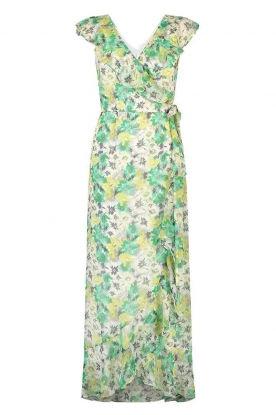 Freebird | Maxi dress with floral print Olga | green