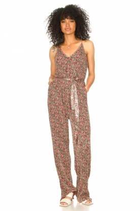 Freebird |  Jumpsuit with floral print Baily | pink