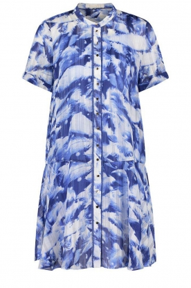 Freebird | Dress with print Celeste | blue