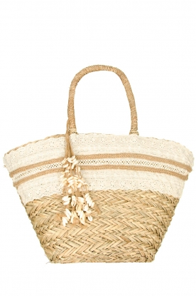 Little Soho |  Wicker bag with lace Kate | natural