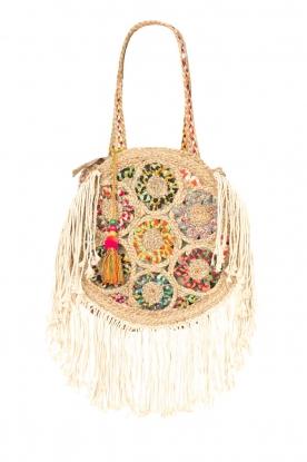 Little Soho |  Round bag with fring Faye | multi