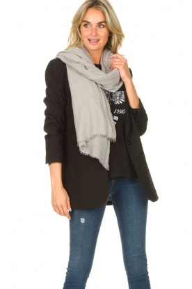 American Vintage |  Soft scarf Fati | light grey